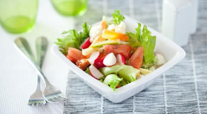 Диета Спичка - овощной салат