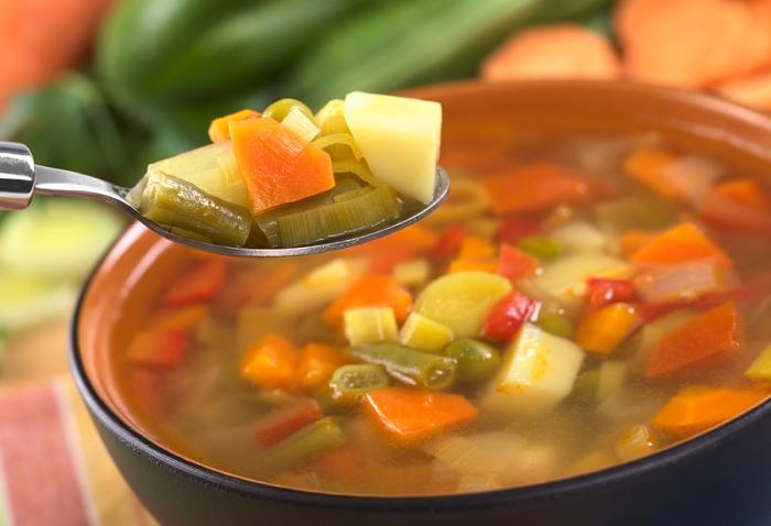 Ovoshhi dlya supa - Приготовление супа
